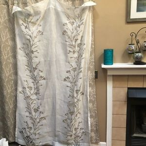 7' x 4' curtain panels (2) semisheer with some tan